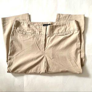 Lane Bryant Cream Tan Cropped Pants 20